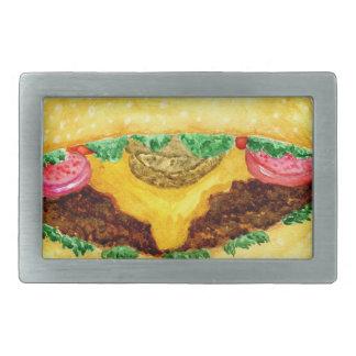 Burger-Nahrung 2 Rechteckige Gürtelschnalle
