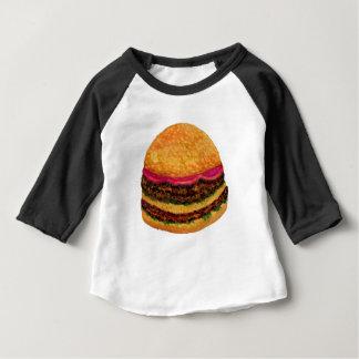 Burger-Nahrung 3 Baby T-shirt