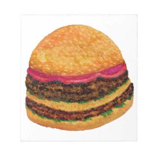 Burger-Nahrung 3 Notizblock