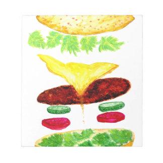 Burger-Nahrung Notizblock