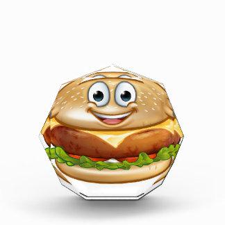 Burger-Nahrungsmittelmaskottchen-Cartoon-Charakter Auszeichnung