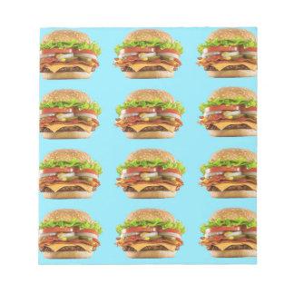 Burger-Notizblock Notizblock