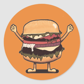 Burger-Sieger! Runder Aufkleber