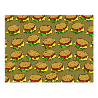 Burger-Tapete Postkarte