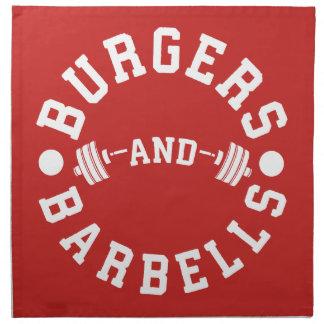 Burger und Barbells - lustiger Workout motivierend Stoffserviette