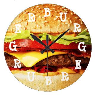 Burger-Zeit Große Wanduhr