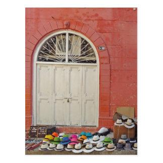 Bürgersteigs-Hut-Speicher - Cartagena Kolumbien Postkarte