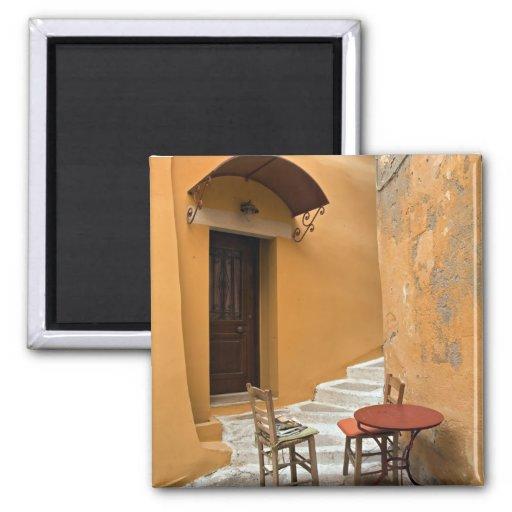 Bürgersteigstabelleneinstellung, Chania, Kreta, Gr Kühlschrankmagnet