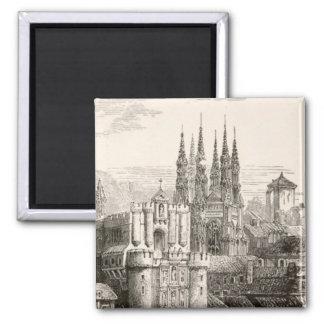 Burgos-Kathedralen-Spanien-Schloss-gotischer Helm  Quadratischer Magnet