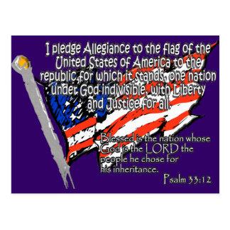 Bürgschaft des Ergebenheits-Psalm-33:12 Postkarte