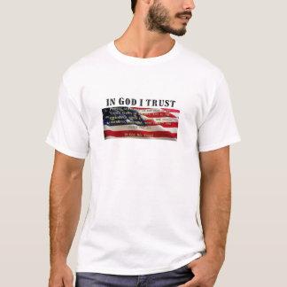 Bürgschaft von Ergebenheit. Vertrauen im Gott T-Shirt