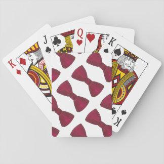 Burgunder-Bogen-Krawatte Bowtie Spielkarten
