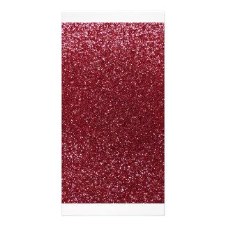 Burgunder-Glitter Fotokartenvorlage