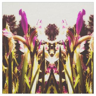 Burgunder-Iris Stoff