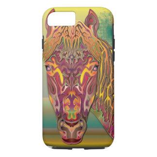Burgunder-Pferd iPhone 7 Hülle