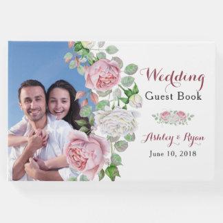 Burgunder rosa gästebuch