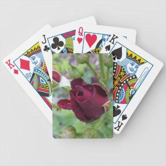 Burgunder-Rose nach Regen Bicycle Spielkarten