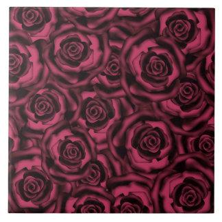 Burgunder-Rosen Keramikfliese