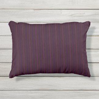 Burgunder Stripes Patio Kissen Für Draußen