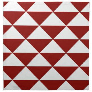 Burgunder und weiße Dreiecke Stoffserviette