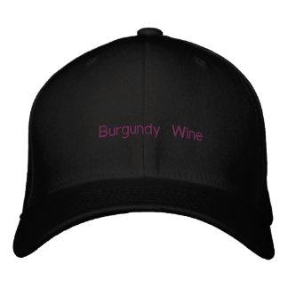 Burgunder-Wein Bestickte Kappe