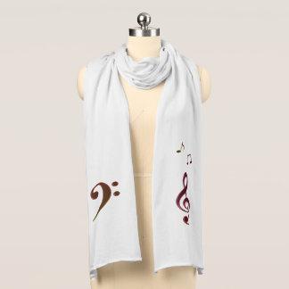 Burgunderbronzemusikclefs-musikalische Schal