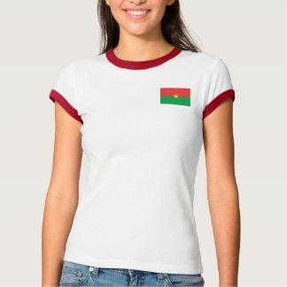 Burkina Faso Flagge + Karten-T - Shirt