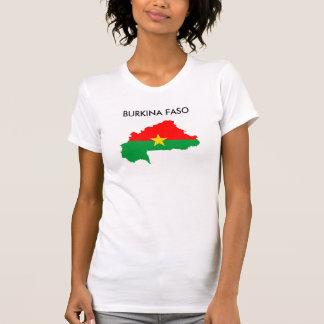 Burkina Faso Landflaggen-Kartenform-Silhouette T-Shirt