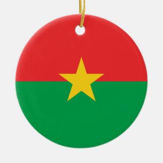 Burkina Faso nationale Weltflagge Keramik Ornament