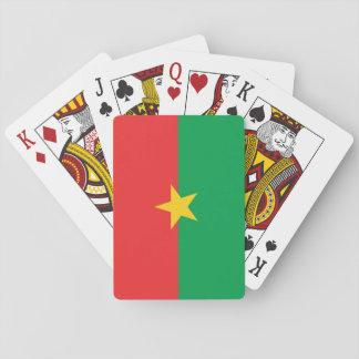 Burkina Faso nationale Weltflagge Spielkarten