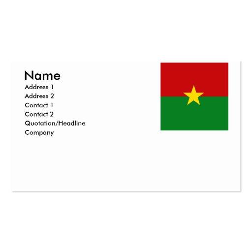 Burkina Faso Visitenkartenvorlagen