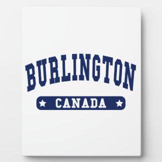 Burlington Fotoplatte