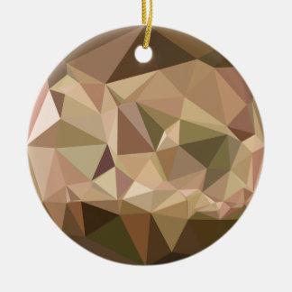 Burlywood abstrakter niedriger Polygon-Hintergrund Keramik Ornament