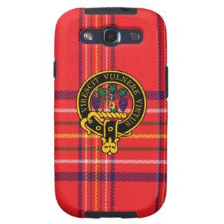 Burnett schottisches Wappen und Tartan S3 rufen Galaxy S3 Schutzhülle