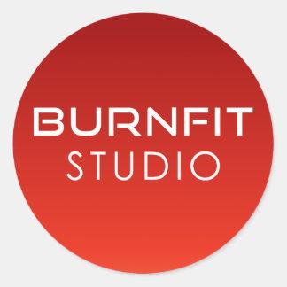 BurnFit Studio-Aufkleber Runder Aufkleber