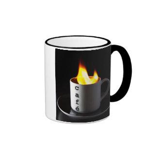 Burning coffe tassen