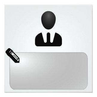 Büro - Arbeit Quadratische 13,3 Cm Einladungskarte