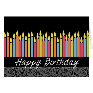 Büro-Geburtstags-Karte mit Kerzen Karte