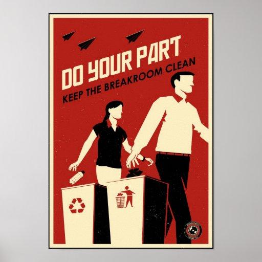 Büro-Propaganda: Breakroom Poster