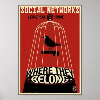 Büro-Propaganda: Sozialnetz Poster