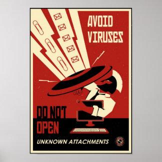 Büro-Propaganda: Vermeiden Sie Downloads Poster