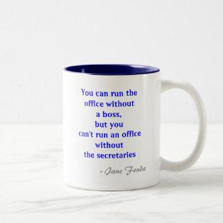 Büro-Sekretär Quote Mug Zweifarbige Tasse