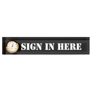 """Büro """"unterzeichnen herein hier"""" schreibtischplakette"""
