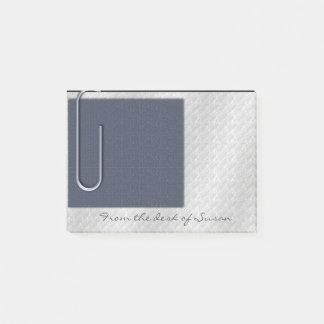 Büroklammer-Anmerkungs-Schiefer-Blau Post-it Klebezettel