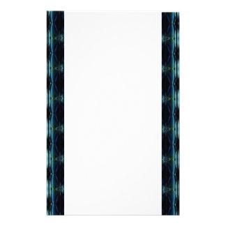 Büropapier blau grün retro artdeco briefpapier