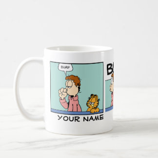 """Burp-"" Garfield-Comic-Streifen Kaffeetasse"