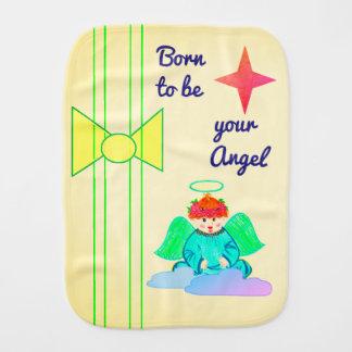 Burp-Stoff: Geboren, Ihr Engel zu sein Baby Spucktuch