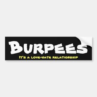 Burpees Liebe-/Hass-Verhältnis Autoaufkleber