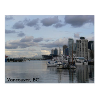 Burrard Einlass, Vancouver, BC Postkarte