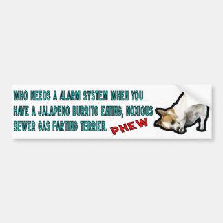 Burrito, der Terrierstoßaufkleber isst Autoaufkleber